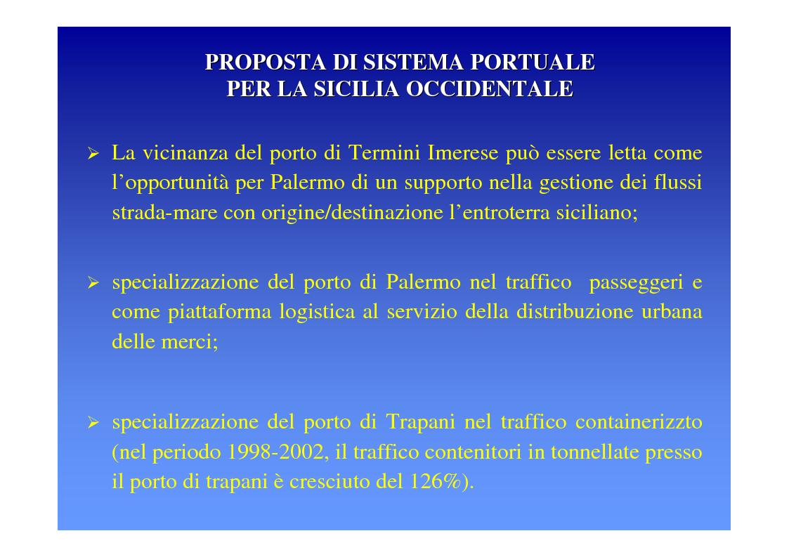 Anteprima della tesi: La logica del sistema portuale per lo sviluppo del trasporto combinato strada-mare in Sicilia, Pagina 23