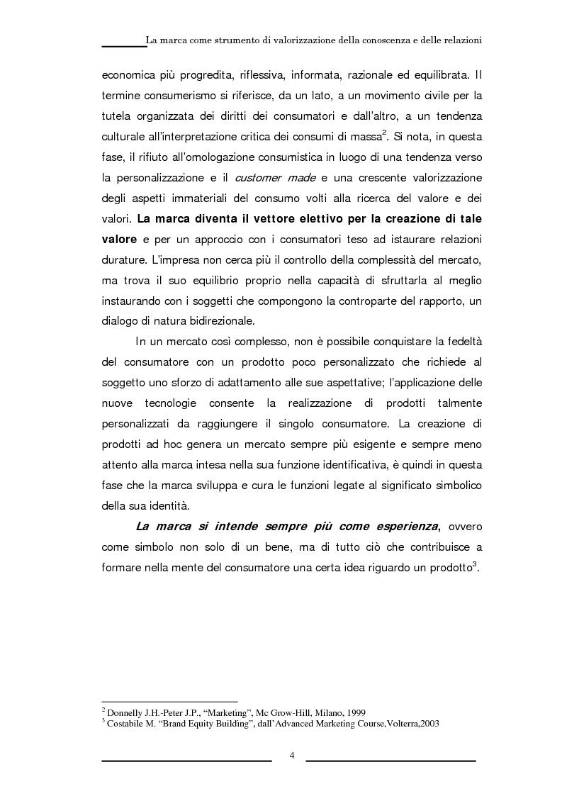 Anteprima della tesi: La marca come strumento di valorizzazione della conoscenza e delle relazioni, Pagina 10