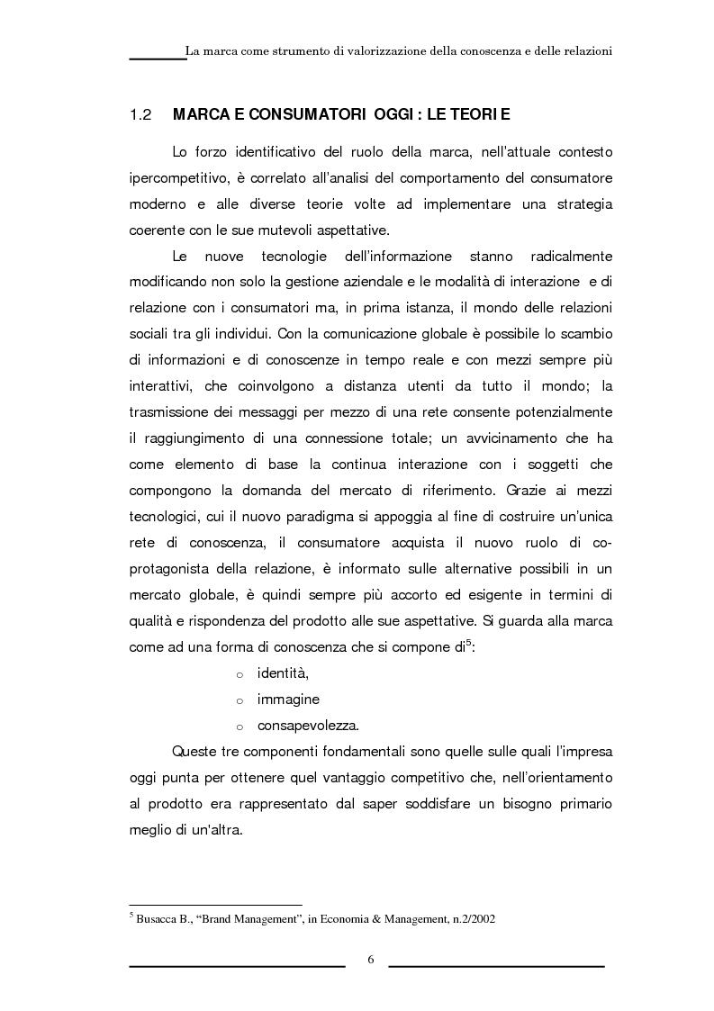 Anteprima della tesi: La marca come strumento di valorizzazione della conoscenza e delle relazioni, Pagina 12