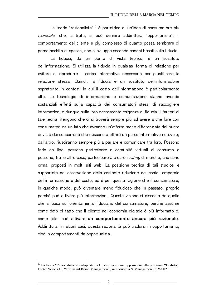 Anteprima della tesi: La marca come strumento di valorizzazione della conoscenza e delle relazioni, Pagina 15