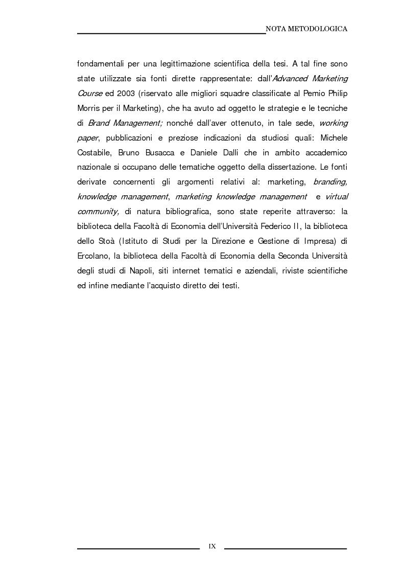 Anteprima della tesi: La marca come strumento di valorizzazione della conoscenza e delle relazioni, Pagina 6