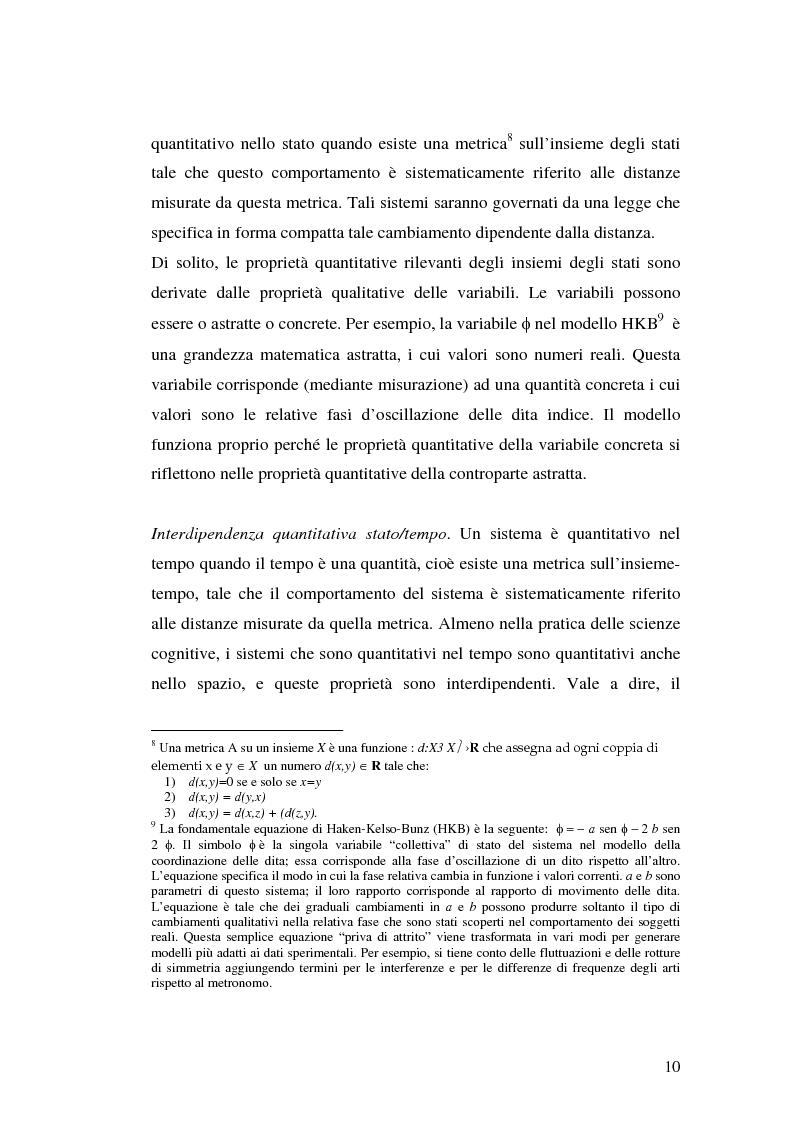 Anteprima della tesi: Agenti cognitivi incorporati. La prospettiva dei sistemi dinamici, Pagina 10