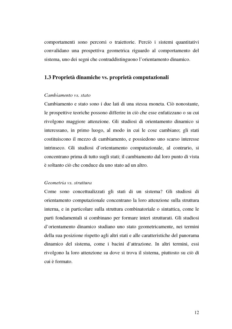 Anteprima della tesi: Agenti cognitivi incorporati. La prospettiva dei sistemi dinamici, Pagina 12