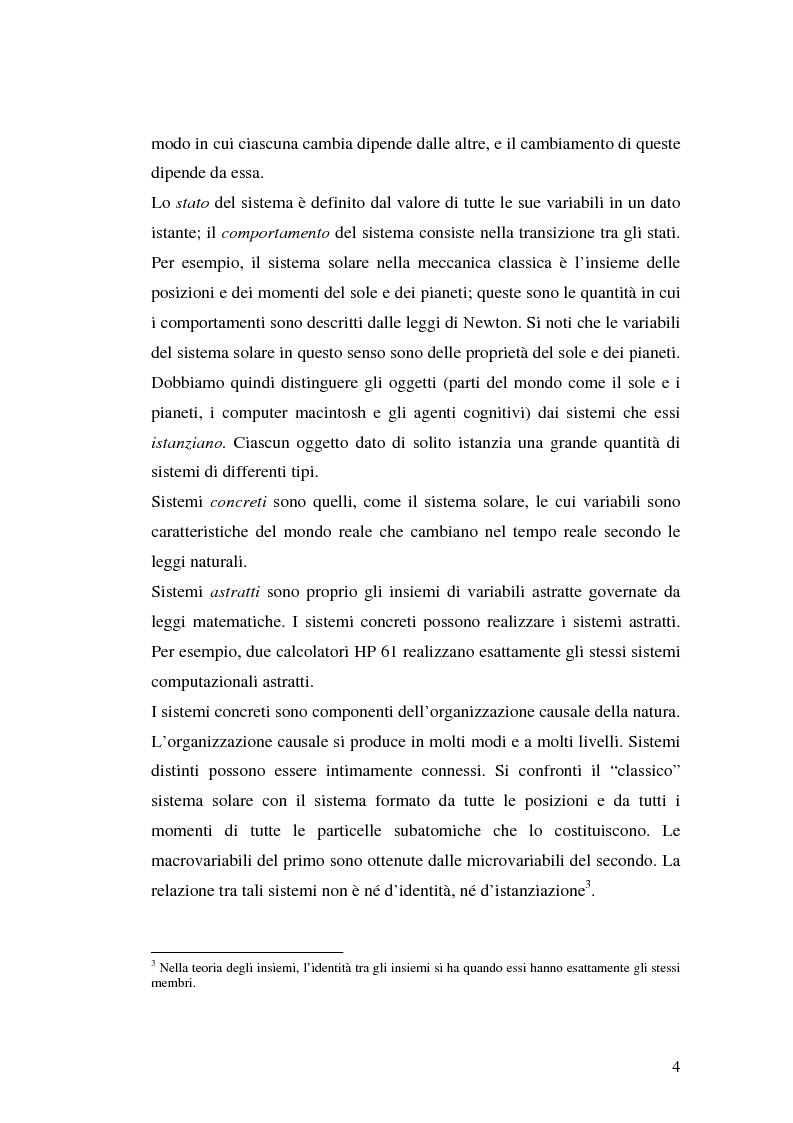Anteprima della tesi: Agenti cognitivi incorporati. La prospettiva dei sistemi dinamici, Pagina 4