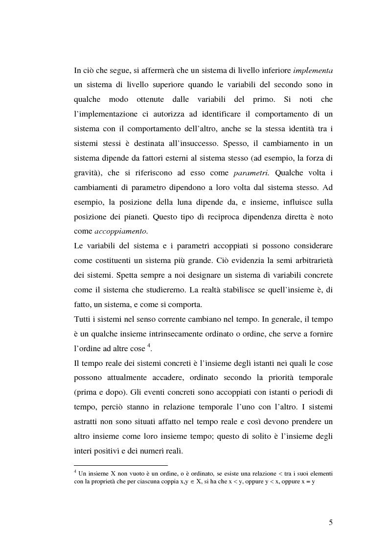 Anteprima della tesi: Agenti cognitivi incorporati. La prospettiva dei sistemi dinamici, Pagina 5