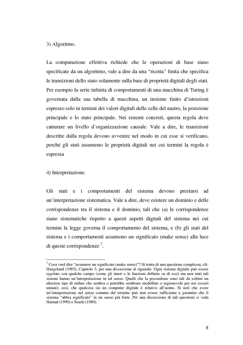 Anteprima della tesi: Agenti cognitivi incorporati. La prospettiva dei sistemi dinamici, Pagina 8