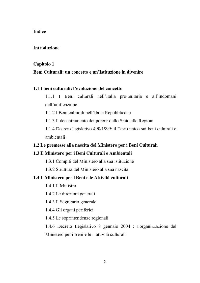 Indice della tesi: La promozione della cultura museale on line, Pagina 1