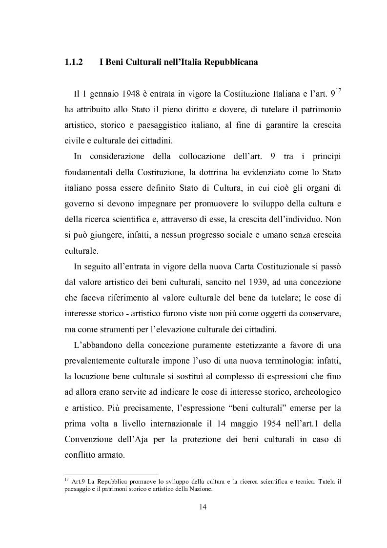 Anteprima della tesi: La promozione della cultura museale on line, Pagina 10