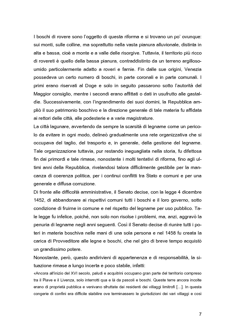 Anteprima della tesi: Ascanio Amalteo e la riforma forestale del 1792 nel Trevigiano, Pagina 4