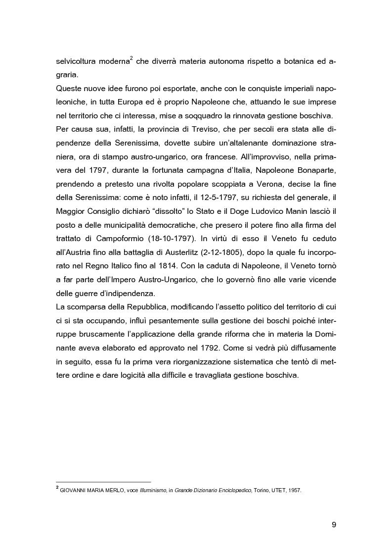 Anteprima della tesi: Ascanio Amalteo e la riforma forestale del 1792 nel Trevigiano, Pagina 6