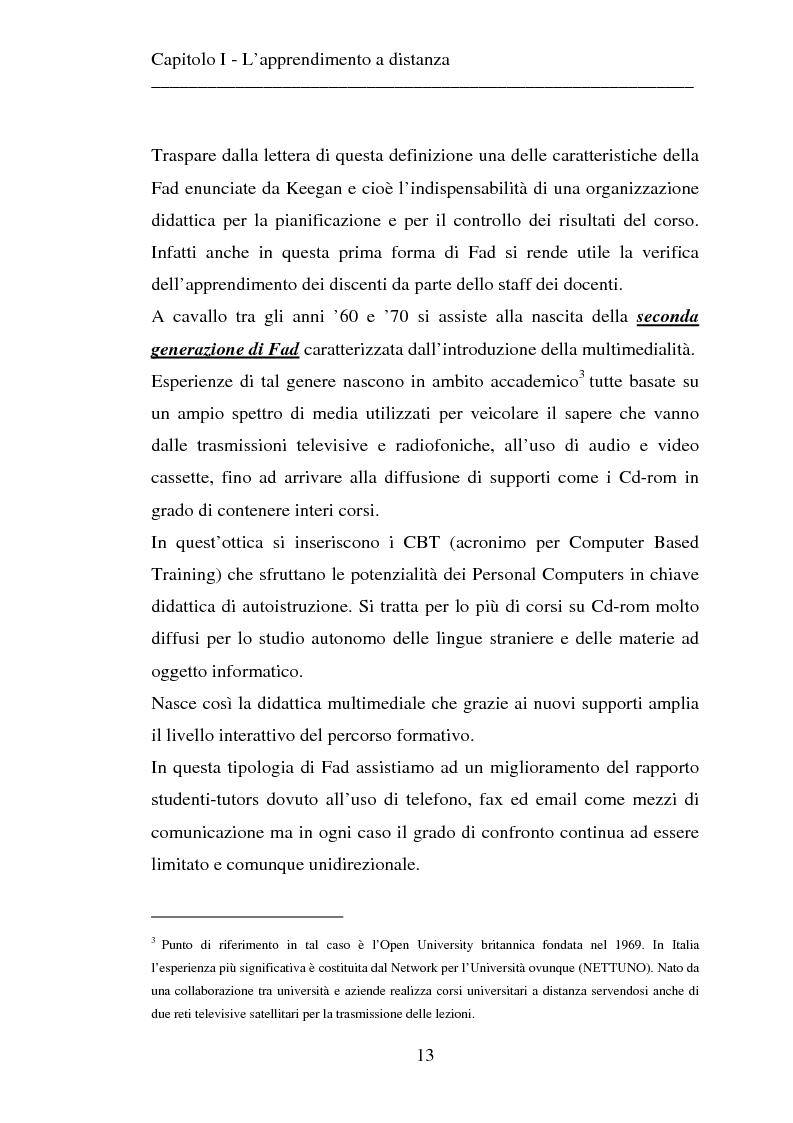 Anteprima della tesi: Le strategie dell'innovazione: e-learning. Un caso di studio., Pagina 11