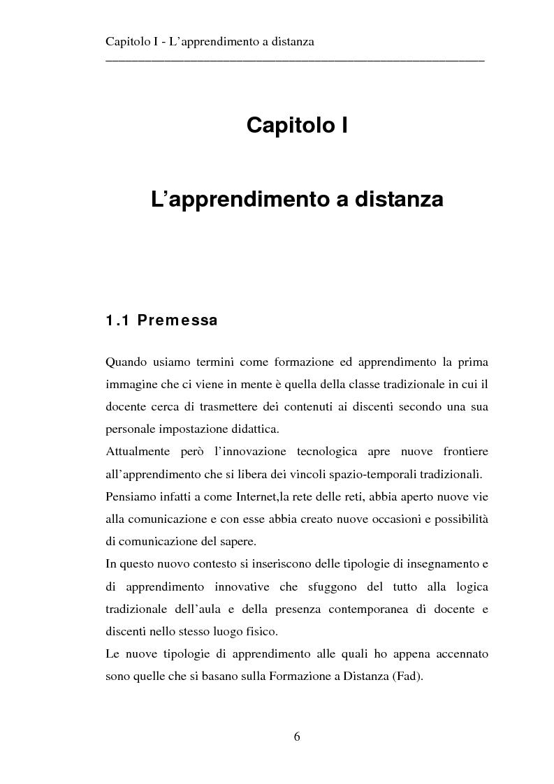 Anteprima della tesi: Le strategie dell'innovazione: e-learning. Un caso di studio., Pagina 4