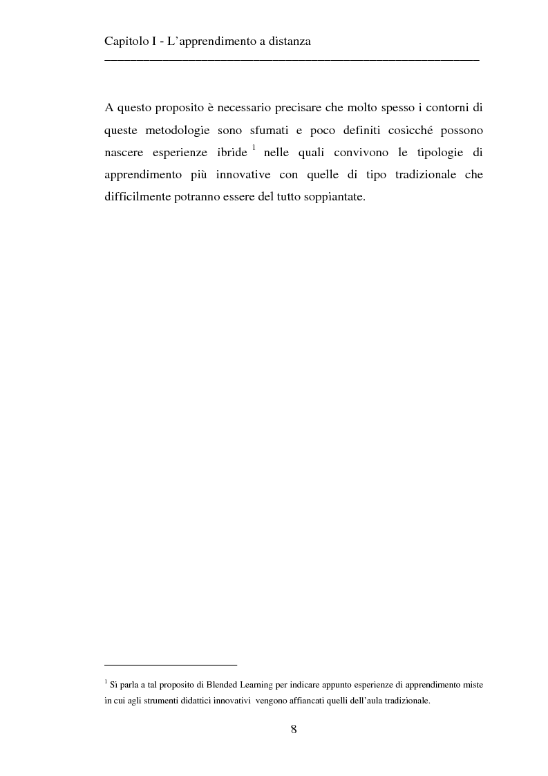 Anteprima della tesi: Le strategie dell'innovazione: e-learning. Un caso di studio., Pagina 6