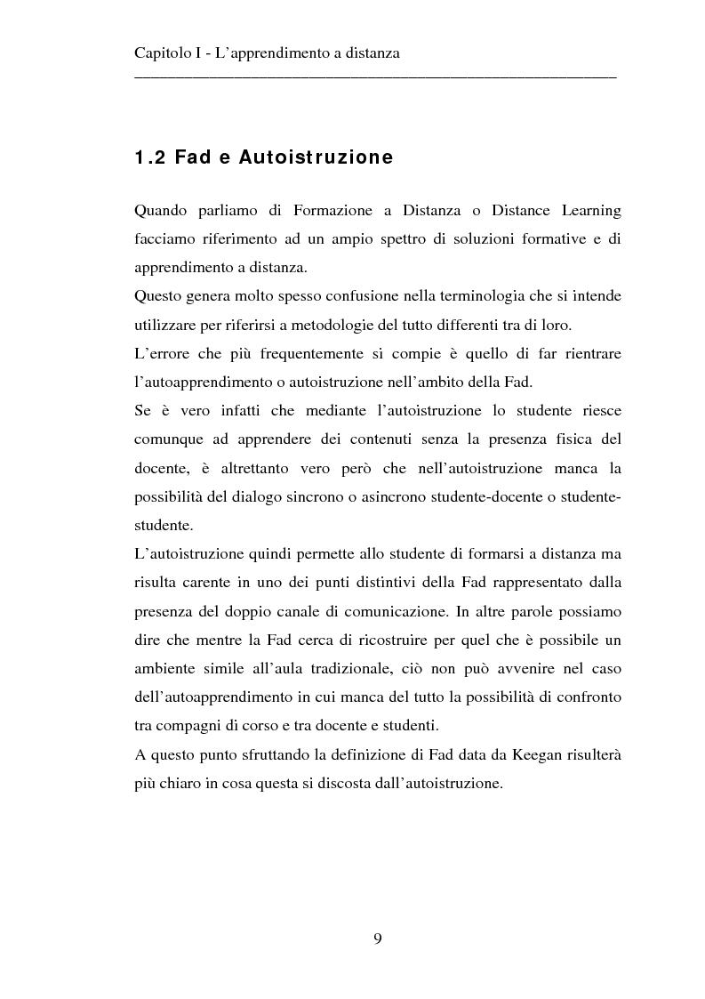 Anteprima della tesi: Le strategie dell'innovazione: e-learning. Un caso di studio., Pagina 7