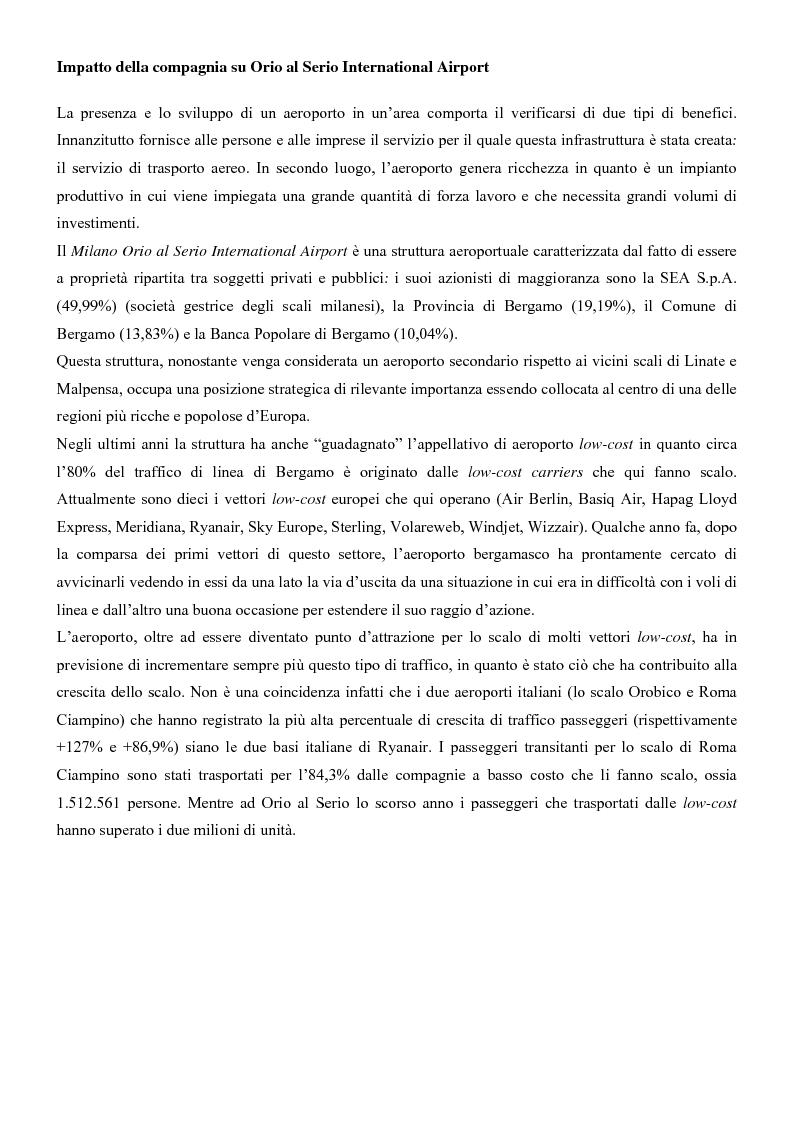Anteprima della tesi: I sistemi di trasporto aereo low-cost: struttura, gestione e competitività. Il caso Ryanair., Pagina 14