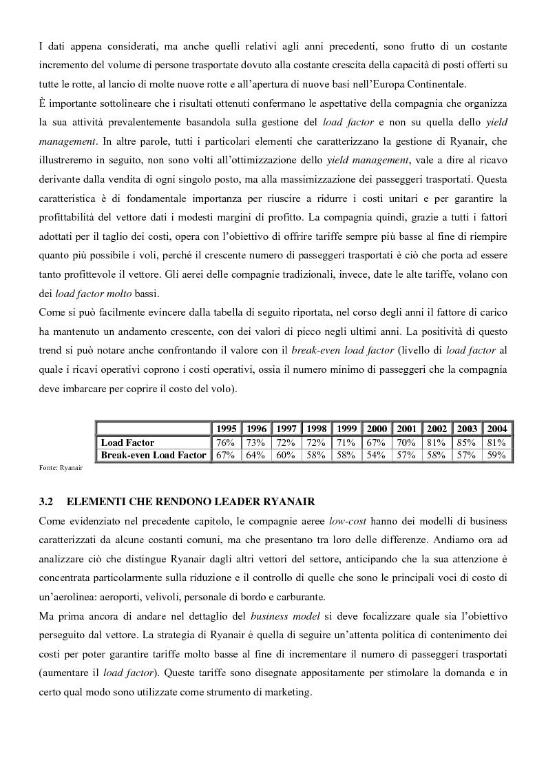 Anteprima della tesi: I sistemi di trasporto aereo low-cost: struttura, gestione e competitività. Il caso Ryanair., Pagina 6
