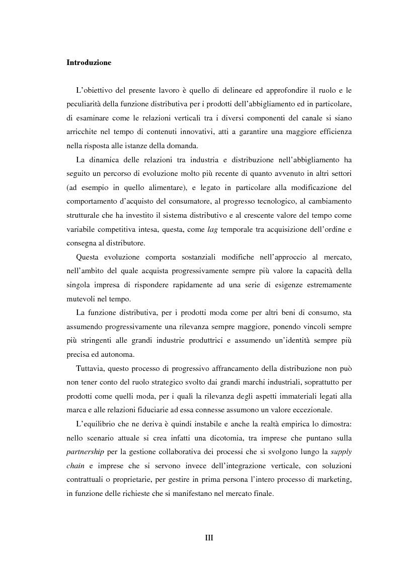 Anteprima della tesi: Moda e distribuzione, Pagina 1
