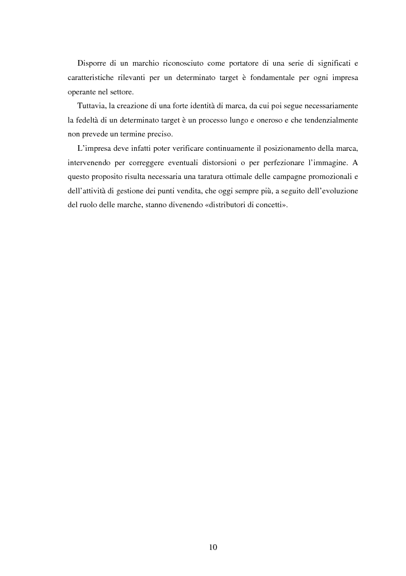 Anteprima della tesi: Moda e distribuzione, Pagina 12
