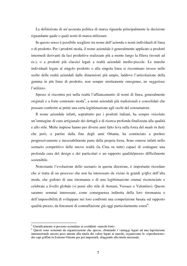 Anteprima della tesi: Moda e distribuzione, Pagina 9