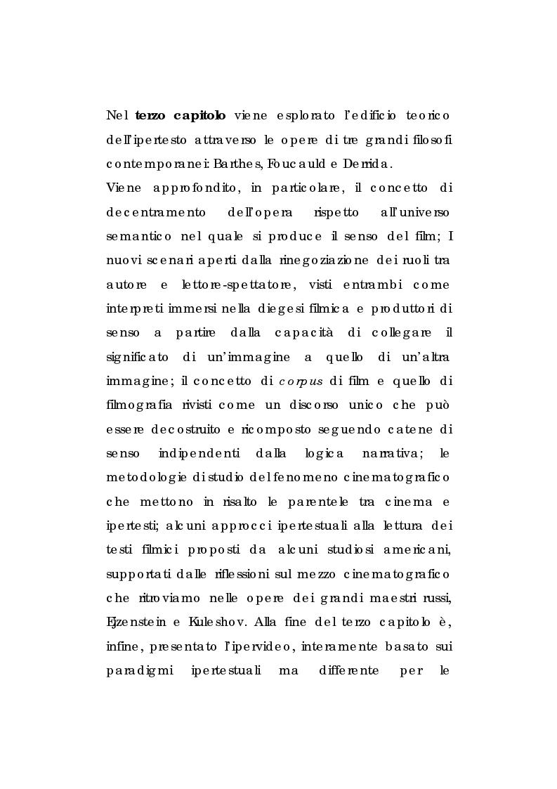 Anteprima della tesi: Approccio all'analisi filmica in Ipervideo: l'opera di Pedro Almodòvar, Pagina 2