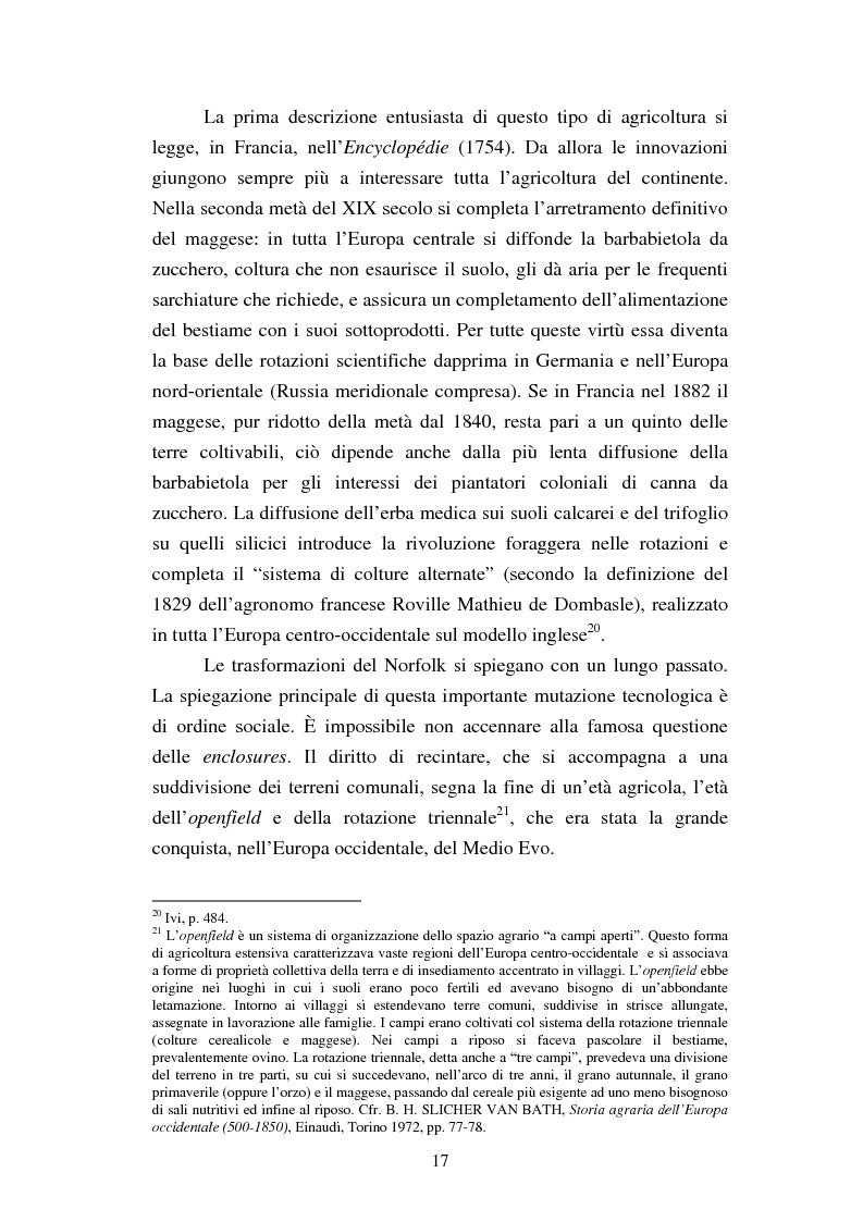 Anteprima della tesi: Agricoltura e innovazioni in Val Padana tra Otto e Novecento, Pagina 11
