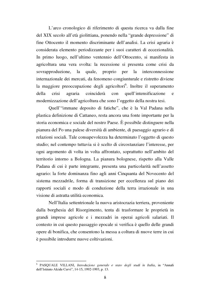 Anteprima della tesi: Agricoltura e innovazioni in Val Padana tra Otto e Novecento, Pagina 2