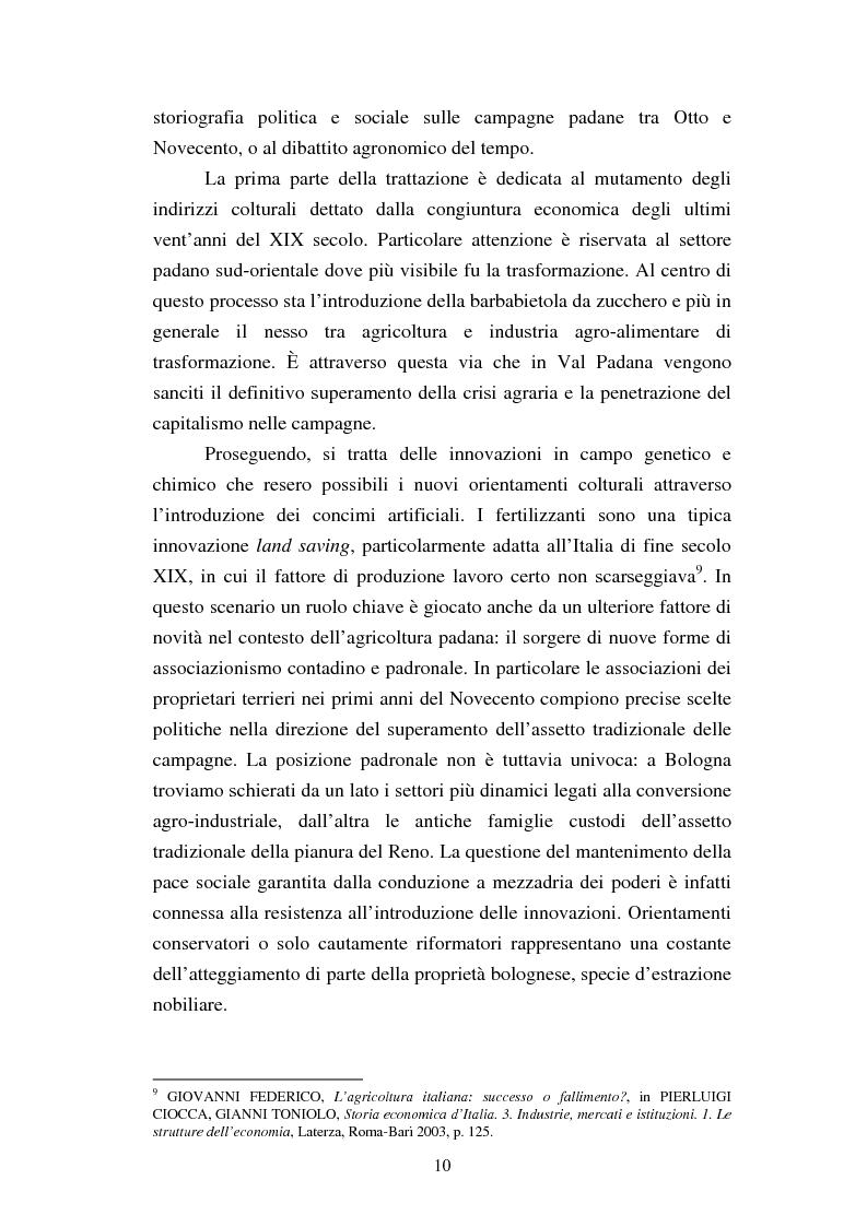 Anteprima della tesi: Agricoltura e innovazioni in Val Padana tra Otto e Novecento, Pagina 4