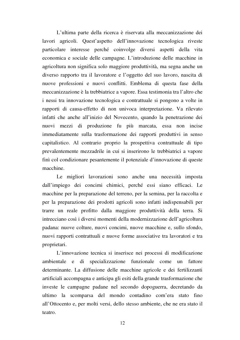 Anteprima della tesi: Agricoltura e innovazioni in Val Padana tra Otto e Novecento, Pagina 6