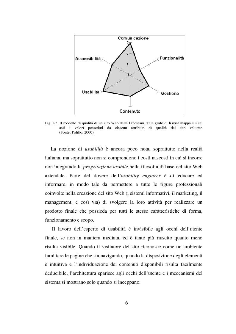 Anteprima della tesi: Qualità ed usabilità dei siti Web, Pagina 10