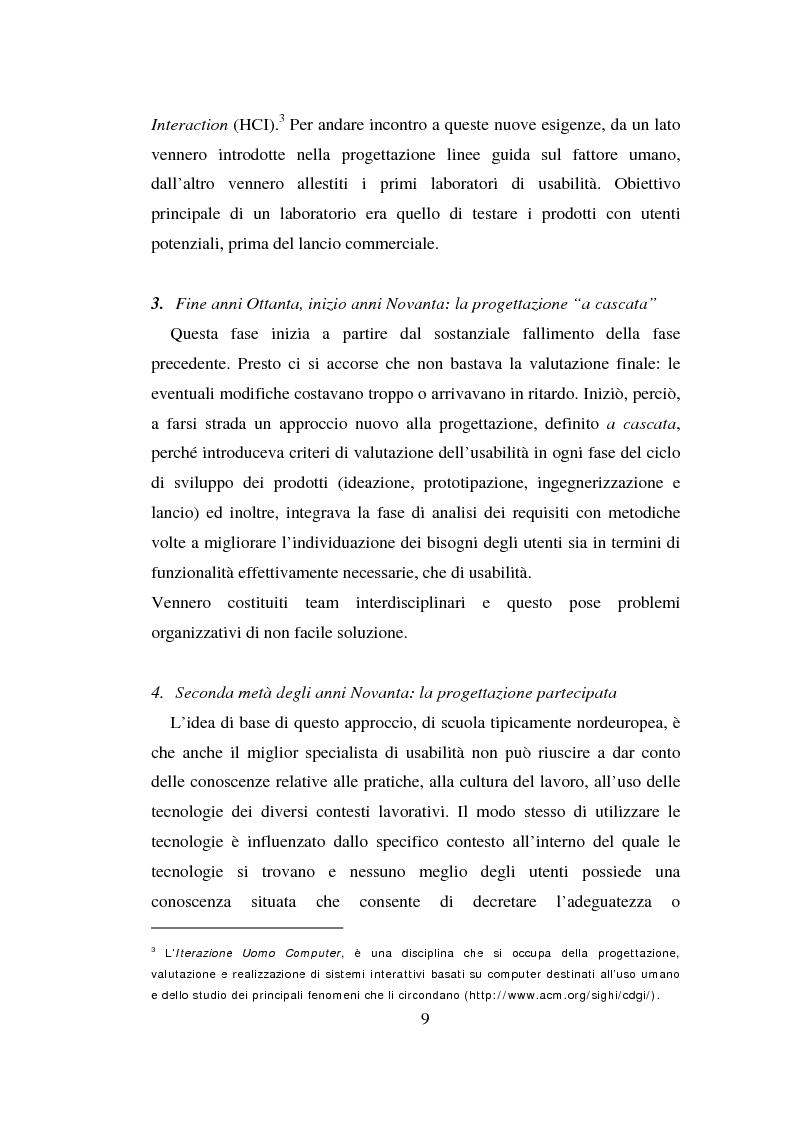 Anteprima della tesi: Qualità ed usabilità dei siti Web, Pagina 13