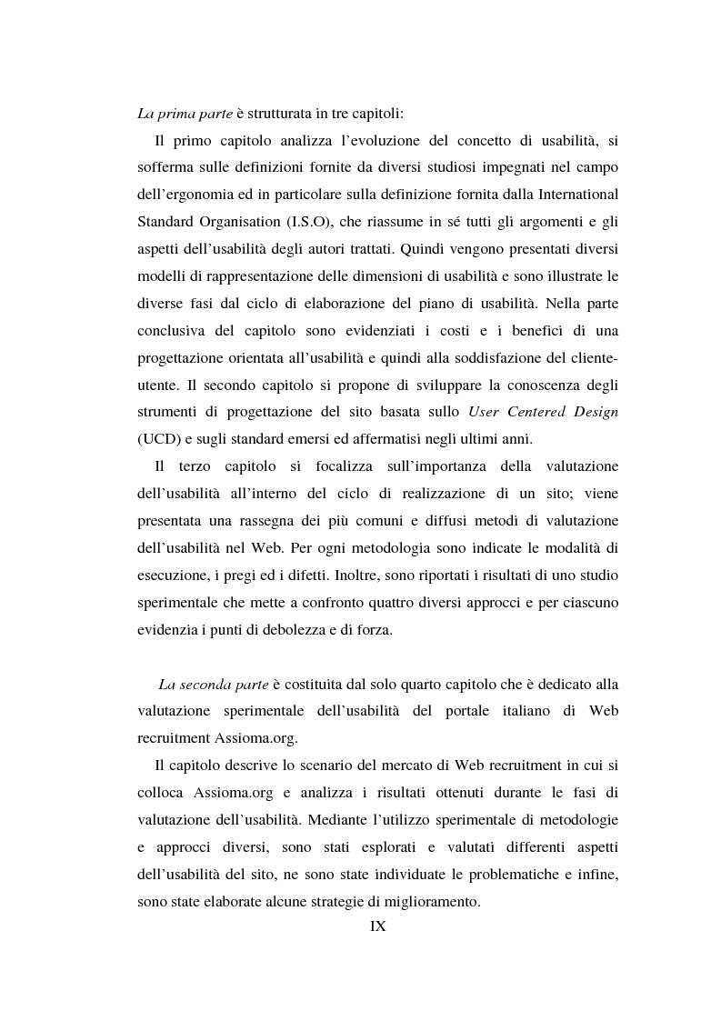 Anteprima della tesi: Qualità ed usabilità dei siti Web, Pagina 3
