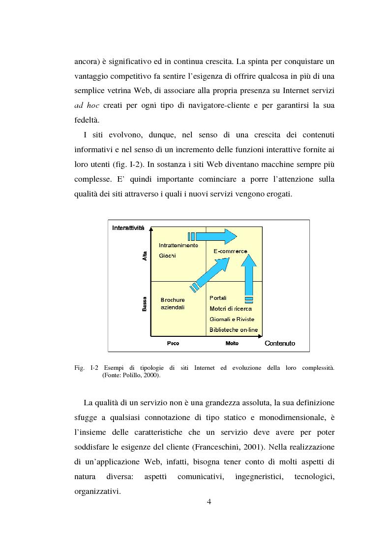 Anteprima della tesi: Qualità ed usabilità dei siti Web, Pagina 8