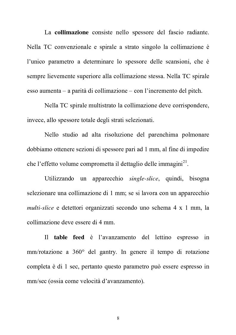 Anteprima della tesi: TC spirale ad alta risoluzione nello studio del parenchima polmonare, Pagina 8