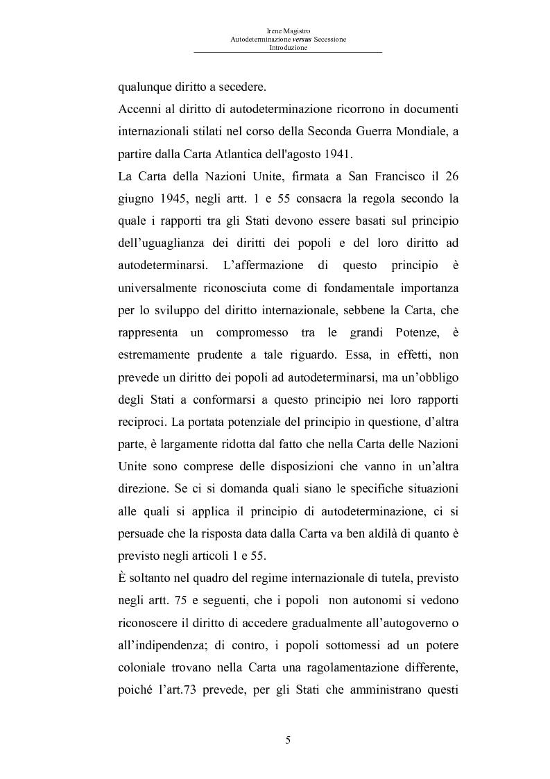 Anteprima della tesi: Autodeterminazione versus Secessione, Pagina 3
