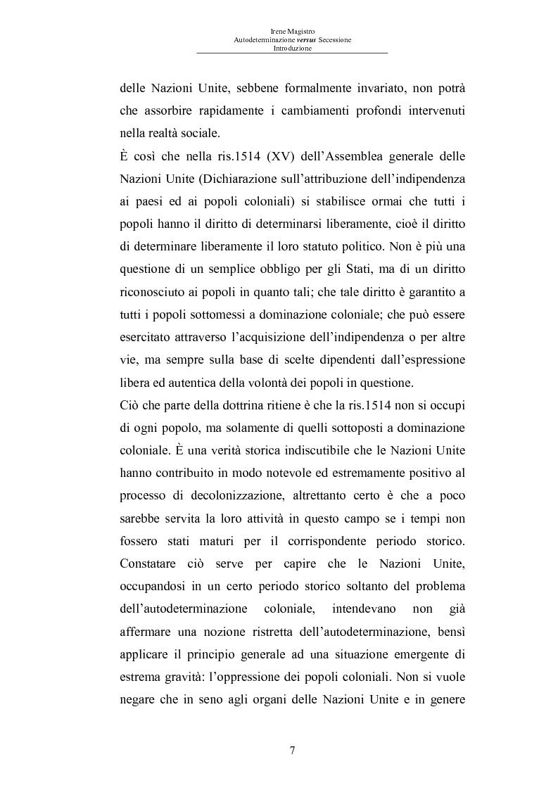 Anteprima della tesi: Autodeterminazione versus Secessione, Pagina 5