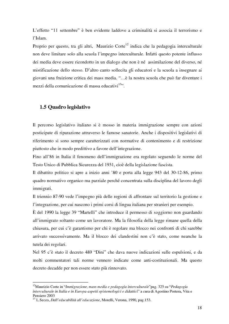 Anteprima della tesi: Politiche dell'immigrazione, modelli d'integrazione e prospettive interculturali in Provincia di Varese, Pagina 15
