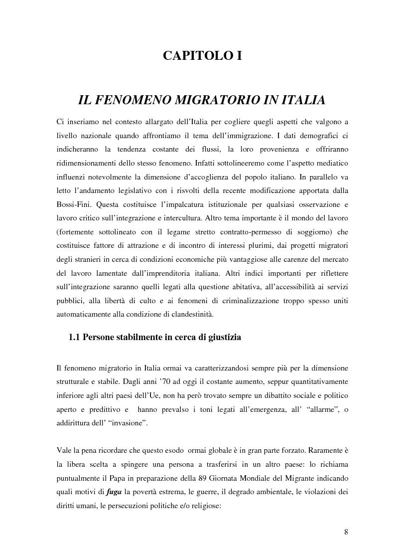 Anteprima della tesi: Politiche dell'immigrazione, modelli d'integrazione e prospettive interculturali in Provincia di Varese, Pagina 5