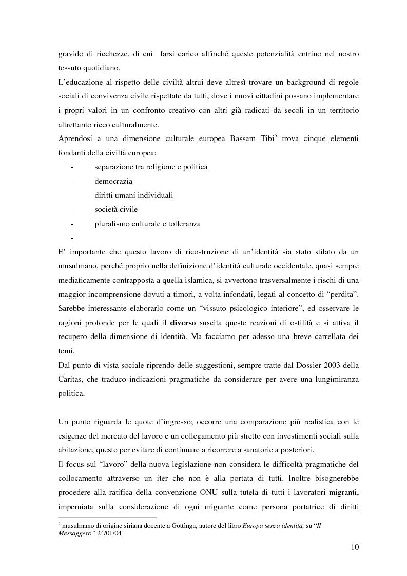 Anteprima della tesi: Politiche dell'immigrazione, modelli d'integrazione e prospettive interculturali in Provincia di Varese, Pagina 7