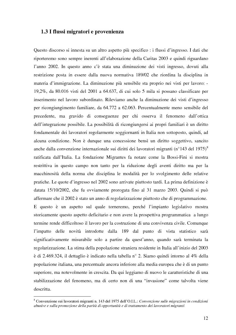 Anteprima della tesi: Politiche dell'immigrazione, modelli d'integrazione e prospettive interculturali in Provincia di Varese, Pagina 9