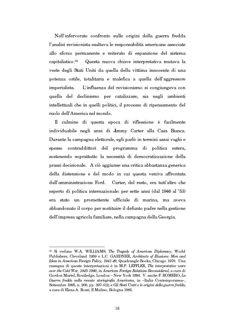 Anteprima della tesi: Gli U.S.A. e la politica estera di Jimmy Carter: 1977-1981, Pagina 14