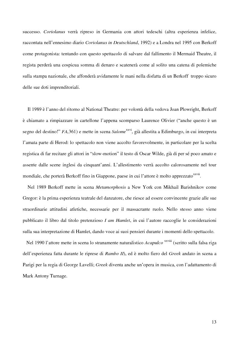 Anteprima della tesi: Ricerca e provocazione come vie della fabbrica teatrale: il percorso artistico di Steven Berkoff, Pagina 15