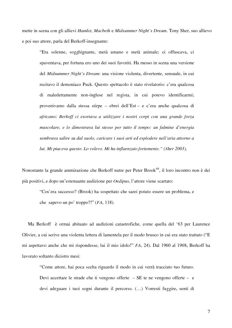 Anteprima della tesi: Ricerca e provocazione come vie della fabbrica teatrale: il percorso artistico di Steven Berkoff, Pagina 9
