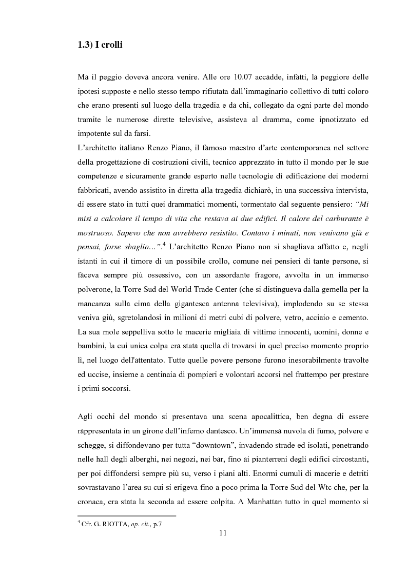 """Anteprima della tesi: 11 Settembre 2001 """"Per non dimenticare"""", Pagina 10"""