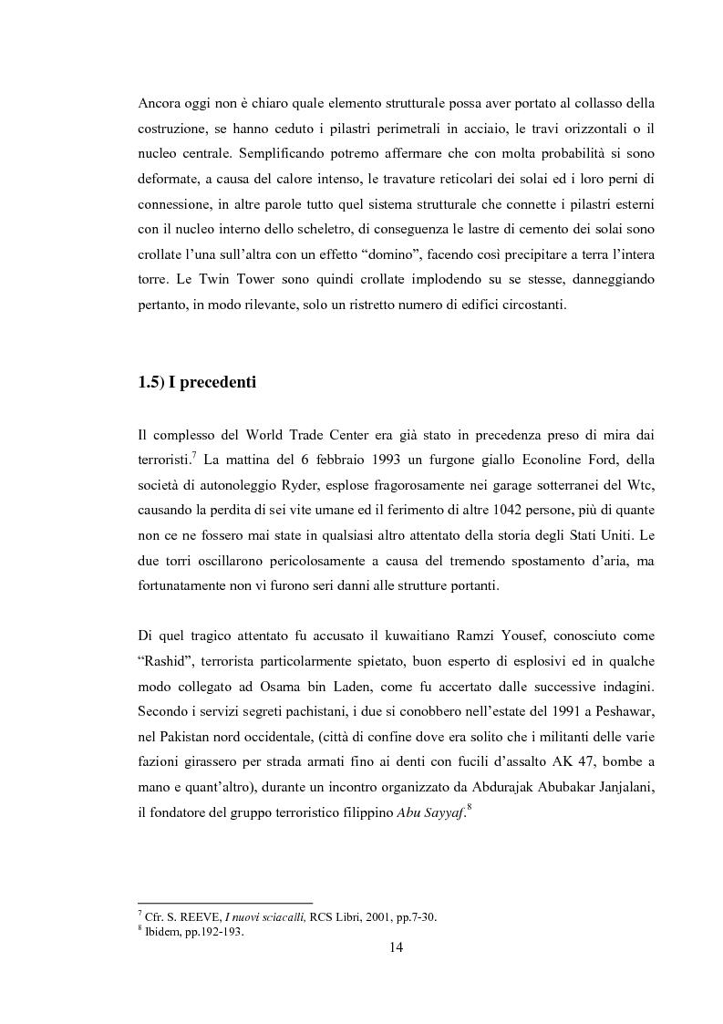 """Anteprima della tesi: 11 Settembre 2001 """"Per non dimenticare"""", Pagina 13"""
