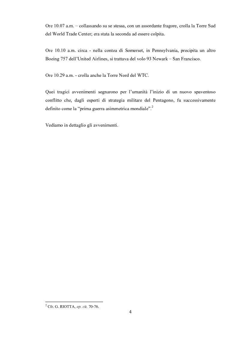 """Anteprima della tesi: 11 Settembre 2001 """"Per non dimenticare"""", Pagina 3"""