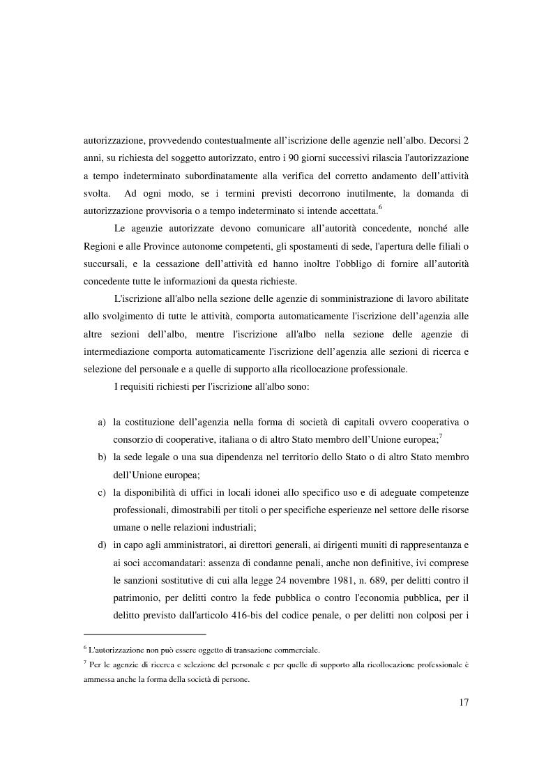 Anteprima della tesi: Riforma ''Biagi''. Titolo V. Tipologie contrattuali a orario ridotto, modulato o flessibile: lavoro intermittente, ripartito e a tempo parziale., Pagina 11