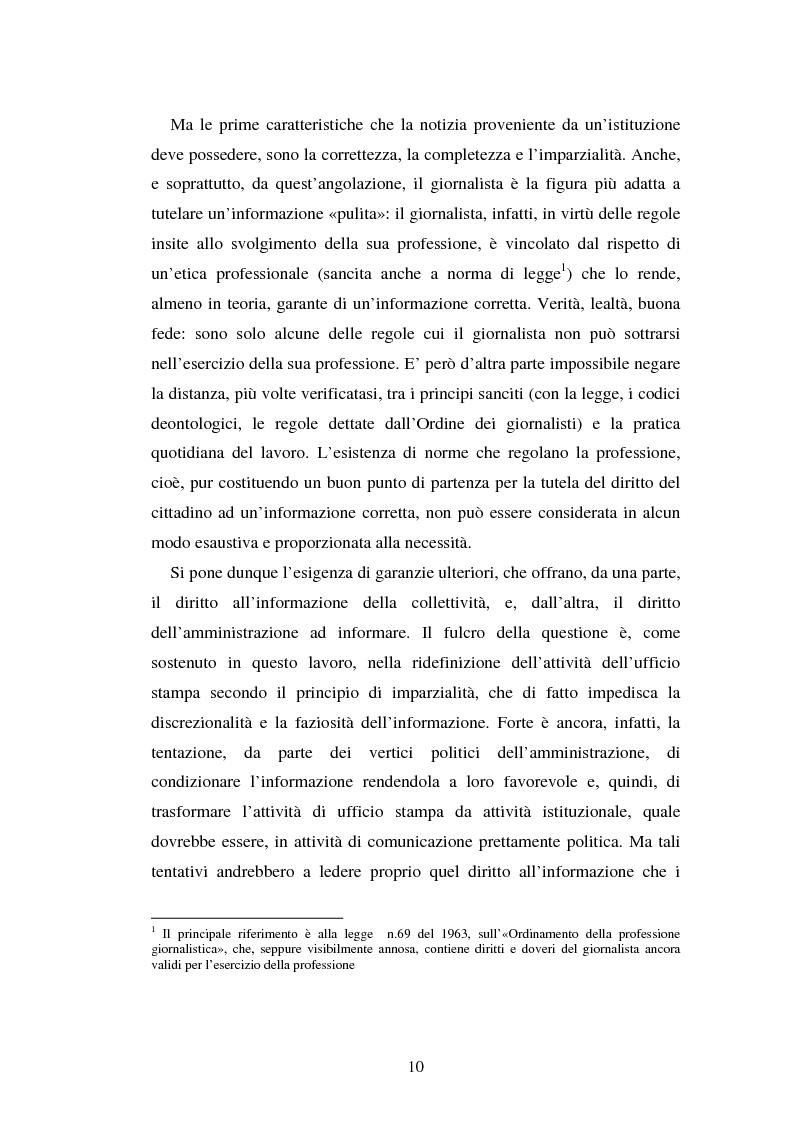 Anteprima della tesi: Gli uffici stampa delle pubbliche amministrazioni, Pagina 3