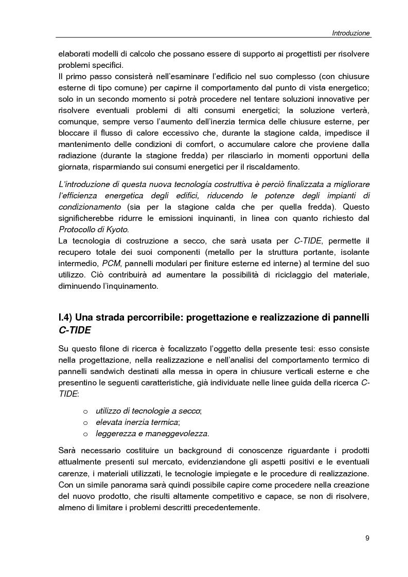 Anteprima della tesi: Progettazione e studio del comportamento termico di pannelli sandwich contenenti materiale a cambiamento di fase (PCM) tramite analisi numerica e sperimentale, Pagina 9