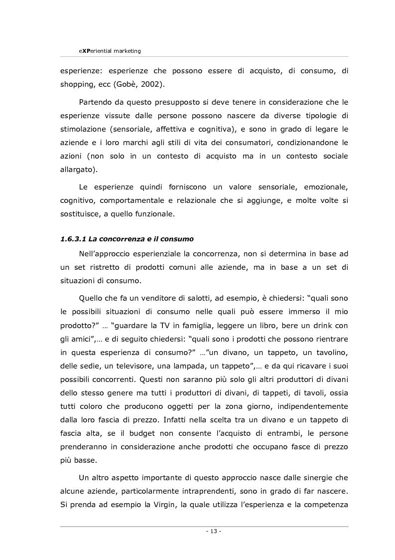 Anteprima della tesi: Experiential marketing. Un'esperienza nel settore dell'arredamento., Pagina 11