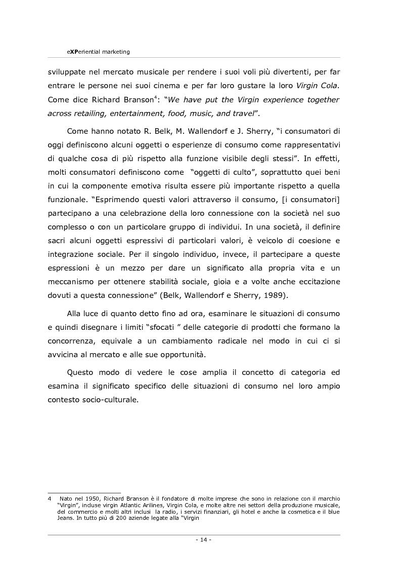 Anteprima della tesi: Experiential marketing. Un'esperienza nel settore dell'arredamento., Pagina 12